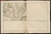 Atlas de Trudaine pour la Généralité de Bourges n° 12. Route de Bourges à Tulle jusqu'à Aigurande où finit la généralité. Passant par Chateauneuf, Linières et La-Châtre. (Cher, Indre). Route de Bourges à Tulle (14 cartes). Pont de cette route (14 feuilles). Copie des mêmes ponts (10 feuilles). Portion de la route de La-Chastre à Aygurande, d'un peu en-deçà de Chavi, arrivant aux moulins banaux d'Aigurande et à la limite avec la généralité de Bourbonnais.