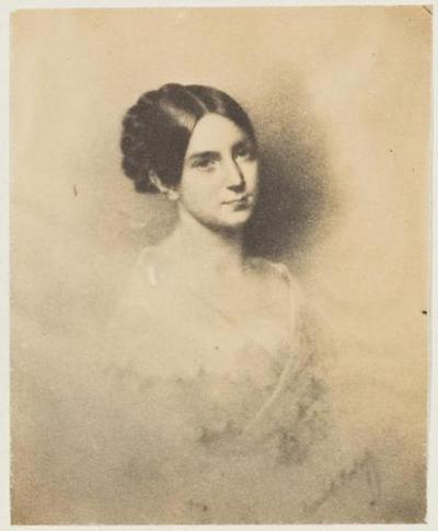 tirage photographique ; Photographie d'un portrait de Léopoldine