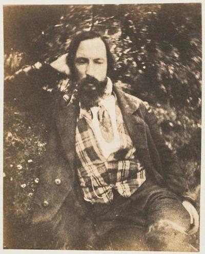 tirage photographique ; Autoportrait, de face, gilet écossais