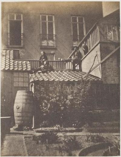 tirage photographique ; La famille Hugo au 20 Hauteville