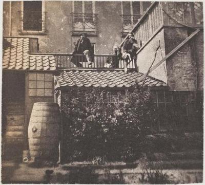 tirage photographique ; François-Victor, Charles et Victor Hugo au 20 Hauteville