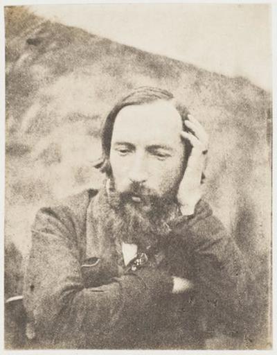 tirage photographique ; Autoportrait, la tête appuyée sur la main gauche