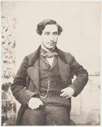 tirage photographique ; Ernest Lefèvre, debout, de face