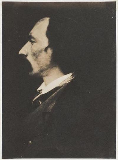 tirage photographique ; Autoportrait, profil gauche