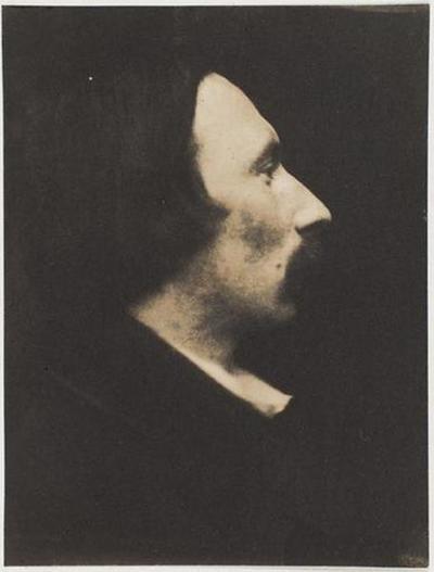 tirage photographique ; Autoportrait, profil droit