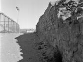Vue générale d'un segment de rempart (Amphithéâtre, Fréjus, Var).