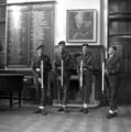 Army Cadets at Herbert Strutt School, Derby Road, Belper, c 1950s ?