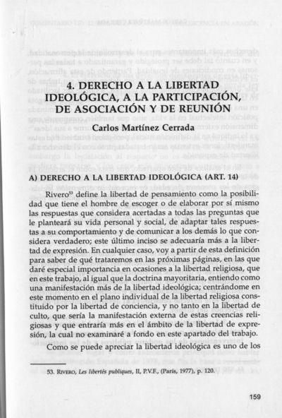 Análisis de los derechos de los menores aragoneses : Derecho a la libertad ideológica, a la participación, de asociación y de reunión