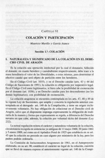Colación y partición : Consorcio foral [Mauricio Murillo García-Atance]