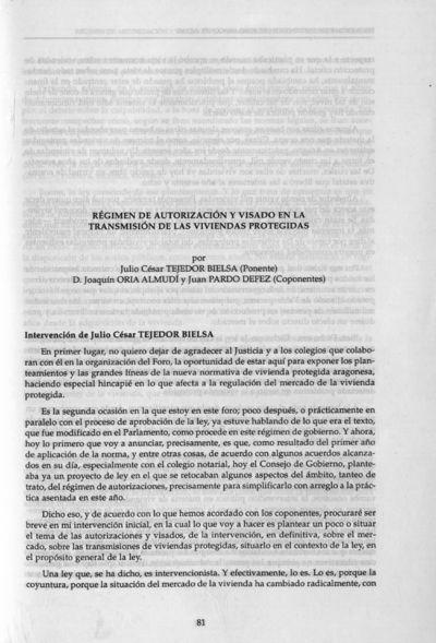 Régimen de autorización y visado en la transmisión de las viviendas protegidas
