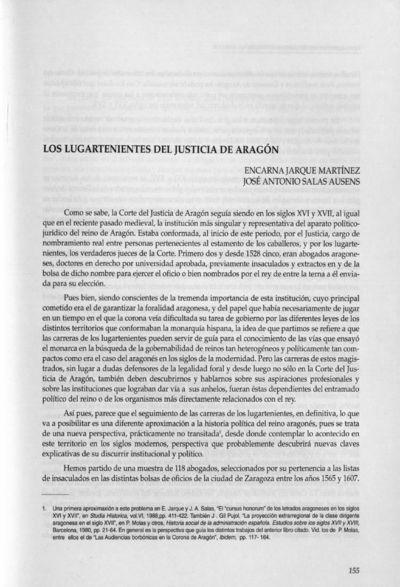 Los lugartenientes del Justicia de Aragón