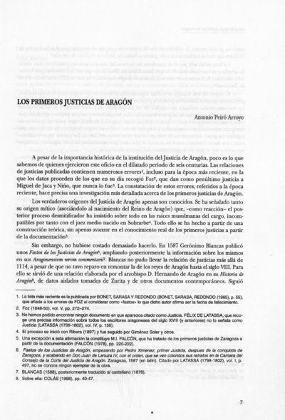 Los primeros justicias de Aragón