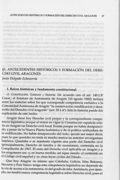 Antecedentes históricos y formación del Derecho civil aragonés