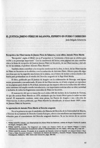 El Justicia Jimeno de Salanova, experto en fuero y derecho