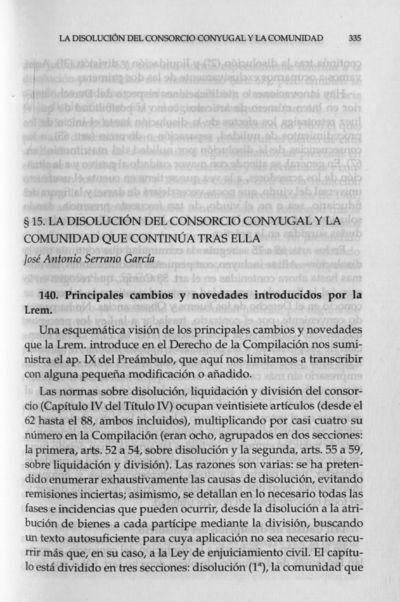 La disolución del consorcio conyugal y la comunidad que continúa tras ella