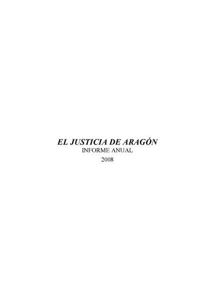 Informe anual. Informes especiales 2008