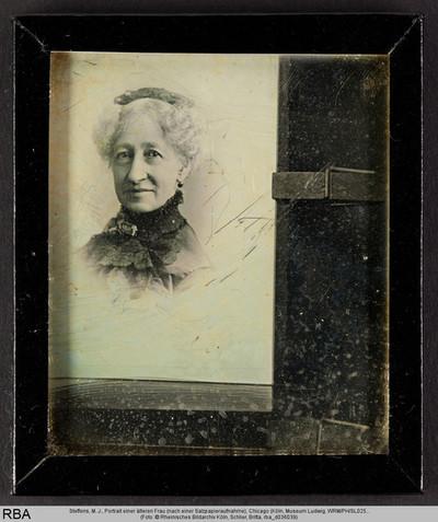 Portrait einer älteren Frau (nach einer Salzpapieraufnahme)