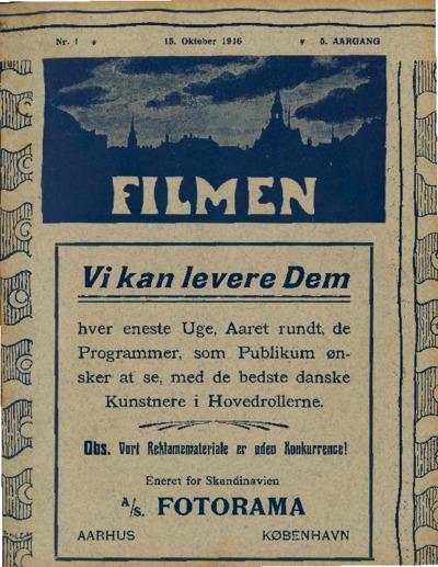 Filmen Nr. 1 - 5. AARGANG 1916 (1-12)