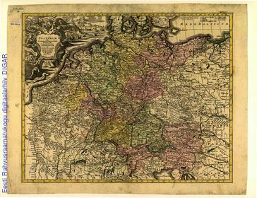 Postarum seu Cursorum Publicorum diverticula et manfiones per Germaniam et Confin Provincias