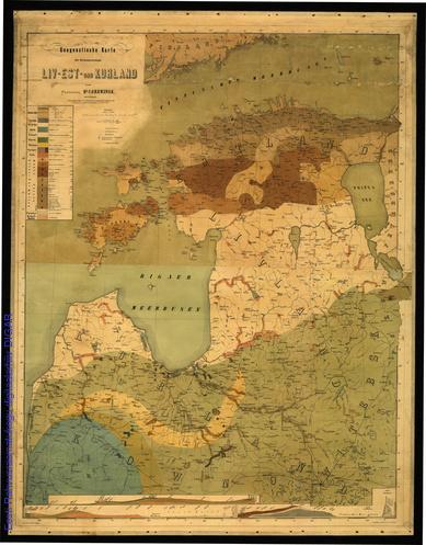 Geognostische karte der Ostseeprovinzen Liv- Est- und Kurland