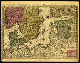 Second Carte des Courones du Nord qui comprend le Royaume de Danemark &c
