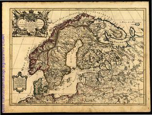 La Scandinavia : divisa nelli suoi Regni di Suezia, Danimarca, Norvegia e paese de Lapponi
