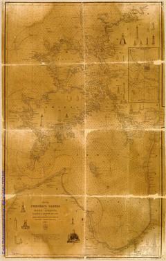 Карта Рижского залива с Моон-Зундом, составлена с описей 1843-1859 гг