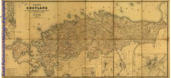 Karte von Ehstland : mit den Kreis-, Polizeidistricts- und Guts- Grenzen so wie den Plänen der Städte