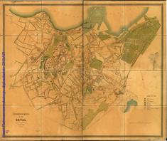 Situatsionplan der Stadt Reval