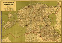 Strassenkarte von Estland