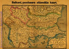 Balkani poolsaare sõjawälja kaart