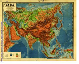 Aasia : kooliseinakaart
