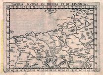 Tavola Nouva di Prussia et di Livonia