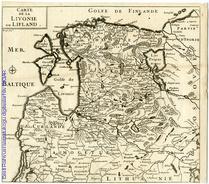 Carte de la Livonie ou Lifland