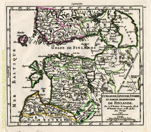 Curlande, Livonie, Ingrie et partie meridionale de Finlande