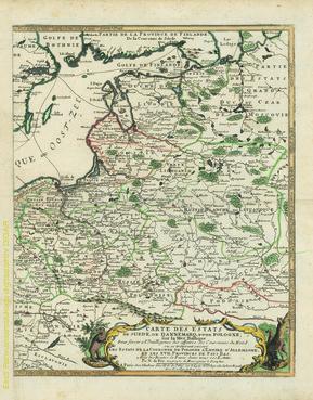Carte des estats de Suede, de Dannemarq, et de Pologne sur la Mer Baltique