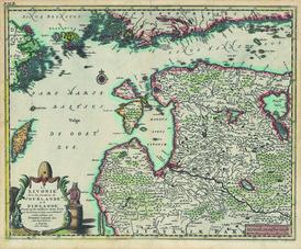 La Livonie avec les frontiéres de Courlande