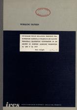 Un'analisi delle relazioni esistenti tra superficie agricola utilizzata ed alcune principali grandezze economiche in un gruppo di aziende agricole piemontesi al 1963 e al 1979