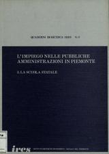 L'impiego nelle pubbliche amministrazioni in Piemonte