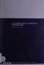 Le produzioni agricole piemontesi : aggiornamento al 1983