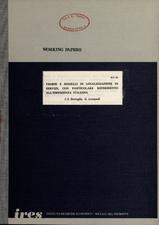 Teorie e modelli di localizzazione di servizi, con particolare riferimento all'esperienza italiana