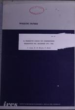 Il prodotto lordo nei comprensori piemontesi nel decennio 1971-1981