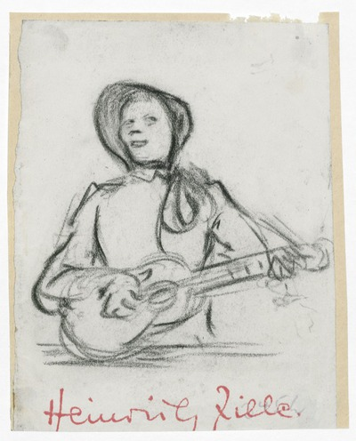 Gitarre spielende Frau