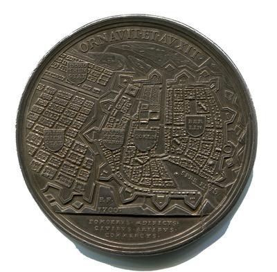 Medaille des Kurfürsten Friedrich III. von Brandenburg (1688-1701) auf die Erweiterung der Stadt Berlin