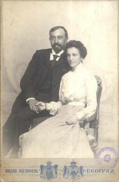 Коста Стојановић са супругом Љубицом