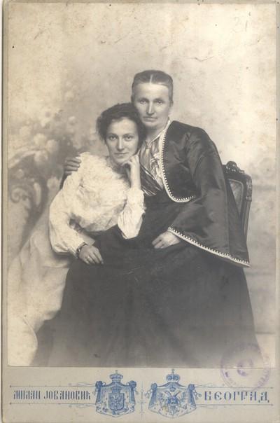 Ташта и жена Косте Стојановића