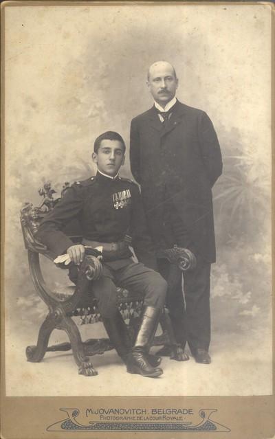 Принц Александар Карађорђевић са својим васпитачем Лујом Војновићем
