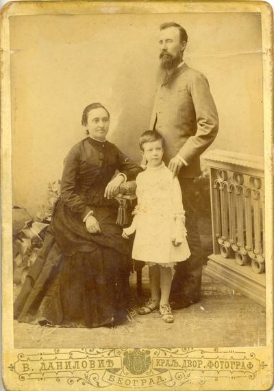 Срета Анђелковић са породицом