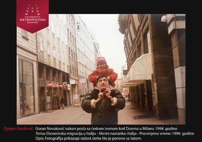 Goran Novković sa ćerkom Ivonom kod Duoma u Milanu 1994.