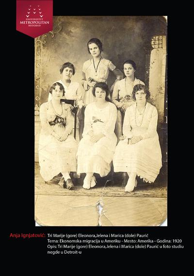 Tri Marije (gore), Eleonora, Jelena i Marica (dole) Paurić